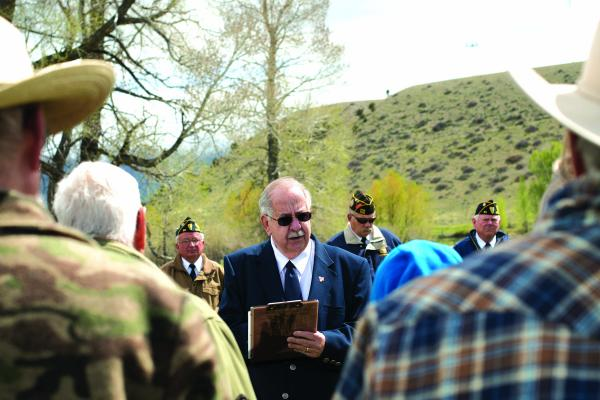 Madison Valley Baptist Church pastor, Ray Testin, led a Memorial Day remembrance ceremony at Meadow Creek Cemetery in McAllister and the Ennis Cemetery on Monday morning, May 27.