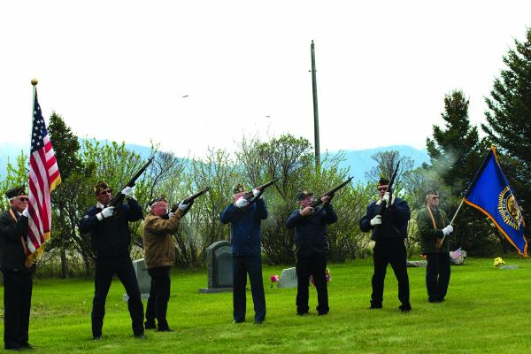 American Legion members gave a 21-gun salute in honor of the soldiers buried at the Meadow Creek Cemetery during a Memorial Day ceremony Monday morning, May 27.