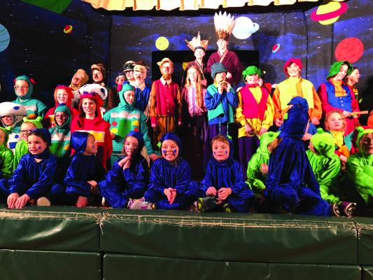 """Missoula Children's Theatre came to Ennis during the week of Feb. 26 – March 2 to cast, direct and present """"Gulliver's Travels…In Space!"""""""