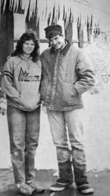 "Robin and Opie Reints: ""In April we'll have our 35th anniversary. On the day of our wedding in 1984, the Madisonian actually took a photo of us and it was in the newspaper because there was such a blizzard for three days before our wedding. This year also marks the 100th year of the family's homestead that we have lived on for almost 35 years."""