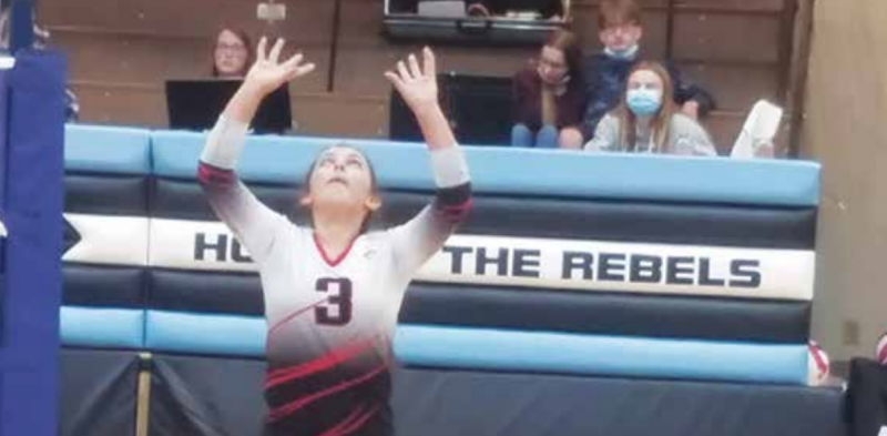 Fran Pollorena led the Falcons in assists in matches against the White Sulphur Springs Hornets and the Shields Valley Rebels last week. PHOTO COURTESY GAIL BANKS
