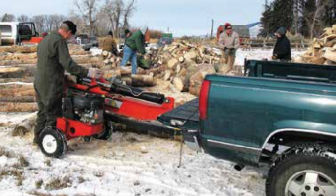 Volunteers from the Firewood Bank of the Ruby Valley cut, split and deliver wood to provide wood to local families through the cold months. Last Thursday three chainsaws were stolen. PHOTO COURTESY FRANK FORD