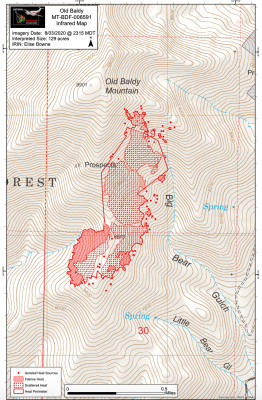 Map of affected area. COURTESY USFS
