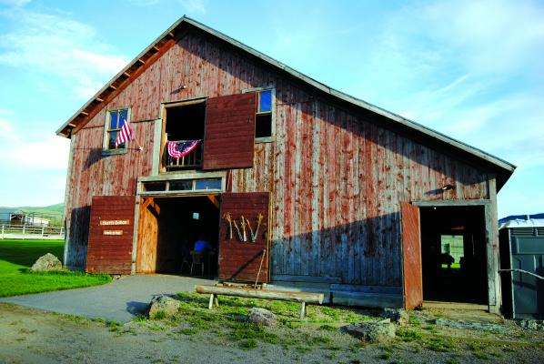 The Larrabee Barn dates back to the 1870s on Ruby Dell Ranch.