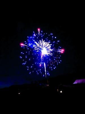 More fireworks, photo by Harper Leonard using a cell phone!
