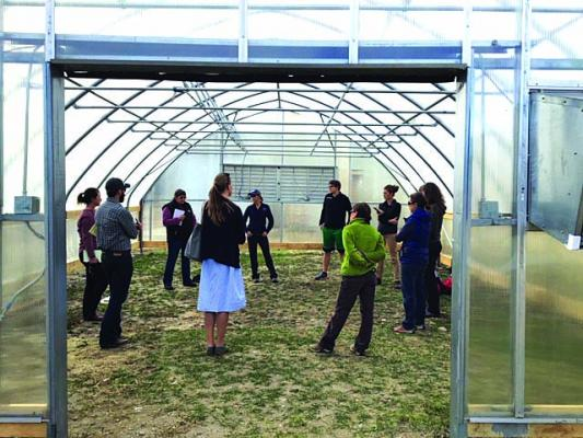 The new Ennis Schools greenhouse, located near the vocational technology building, will get a jumpstart in funding equipment, seeds, lighting and other needs thanks to a new $7,000 grant facilitated by the Madison Conservation District. (Janet Dochnahl)