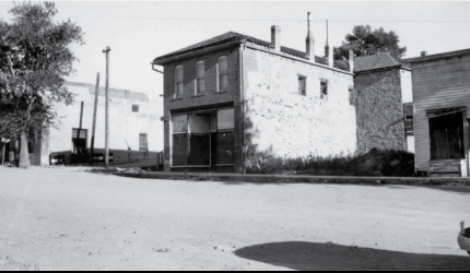 Stonewall Hall in 1937. Photo from Virginia City's National Historic Landmark nomination form at the State Historic Preservation Office via the Montana Historic Society. PHOTO BY W.R. RANKIN