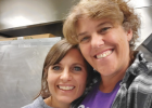 Tammy Wham, Ennis Schools head cook, and Katie Lohrenz, Ennis Schools assistant cook, in the kitchen ready to start the new school year Aug. 28. Photo from Montana School Nutrition Association Facebook page.