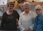 Gayla Allhands, Carol Wilcox and Sara Dunham at the grand opening of the new Sheridan Senior Center building Oct. 15. Photo by Hannah Kearse