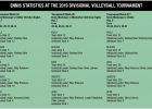 Ennis statistics at the 2019 Divisional volleyball tournament