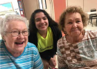 Linda Haverty, Kendra Gonzales and Mary Frame. Elderly adults feel they are treated with respect and teens feel they are making a difference. Photo courtesy of Trish Lopez