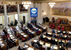 Legislators convene on the House floor as the 67th Montana Legislature kicked off on Jan. 4, 2021. PHOTO COURTESY MARA SILVERS