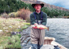 Marine DJ Fowler's first days of fly fishing were successful ones. PHOTO COURTESY WARREN BERG