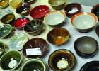 "Artists on display at Gallery 287 in Ennis donated some of their handmade bowls to be used at an ""Empty Bowls"" fundraiser on Saturday, December 8. Attendees purchased a bowl, which was then filled with homemade soup, salad and bread. Proceeds benefitted the Ennis Meals on Wheels program. (R. Colyer photos)"