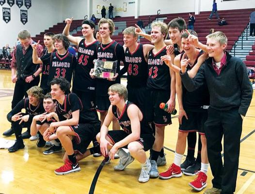 The Twin Bridges Falcons defended their title as district 12C champions, two years in a row. (Photo courtesy Sam Konen)