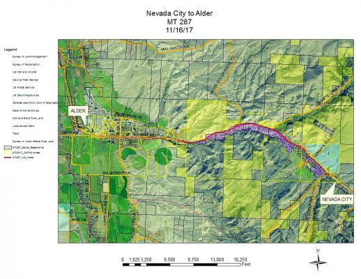 Above: A map showing the approximate route of the proposed trail.