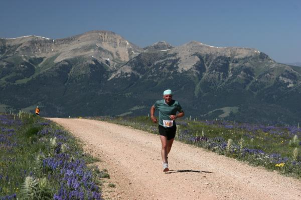 Four-time Madison half marathon champion David Gregory of West Yellowstone runs atop the Gravelly Range, part of the half and full marathon course put on by the Greater Yellowstone Adventure Series. The Madison and Big Sky marathons will take place on July 21 and 22 this year. (Photo courtesy of Sam Korsmoe).