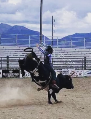 Brummie has been riding bulls for four years and bareback and saddle bronc for three. PHOTO COURTESY OF HOLLI BOGGUS