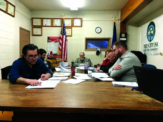 Above – At March's Twin Bridges council meeting, angry residents said a survey they'd conducted show the stormwater, curb and sidewalk project was not wanted. Council listened, and at April's meeting, Councilman Joe Willauer, right, shared an idea on how to pay for it all using a resort tax. (J. Taylor)