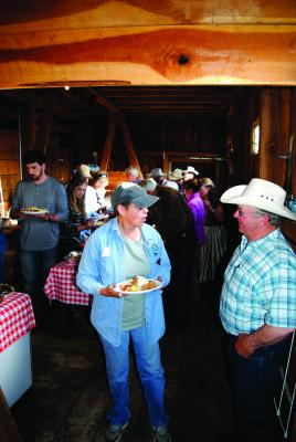 Eat first, dance later - a potluck supper kicked off the evening of fun and socializing.