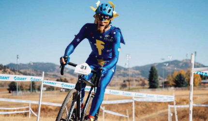 Cory Hardy's alter-ego tends to show up in fall events when lower temperatures are better suited for spandex. PHOTO COURTESY CORY HARDY