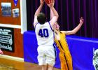 Harrison's Layne Homner goes for a basket during the Wildcats' game against West Yellowstone on Saturday, February 2. The Wildcats fell to the Wolverines 54-50. (A. Christensen)