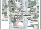 Image of the proposed sidewalk plan. The cross walk at Main Street and 5th Avenue is suggested to move to the intersection of 5th Avenue and Main Street. PHOTO COURTESY OF THAD KAISER/GREAT WEST ENGINEERING