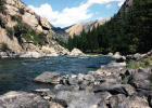 Currently, the Madison River below Ennis Lake is above the 76-year average discharge measured in cubic feet per second (cfs). On May 20, the river reached 3,500 cfs while the average lay near 1,900 cfs. PHOTO BY MADISONIAN STAFF