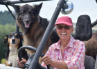Debbie Rogers stays busy with all her outdoor pursuits. Her two dogs go on long hikes with her, tag along when she goes horseback riding, or when she rides around on her ATV. PHOTO BY JANA BOUNDS