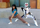 Ahlert choreographed for the pink, yellow, green and blue Power Rangers for five years at Disney World. PHOTO COURTESY OF DC AHLERT