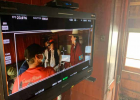 """The old steam train was up and running for the filming of """"Chief Tendoy"""" in Nevada City. They filmed in an old train car, too. PHOTO BY JANA BOUNDS"""