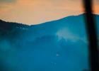 Elk Lake fire, Friday evening. PHOTO COURTESY CATHERINE MCRAE