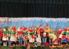 """The best way to spread Christmas cheer is singing loud for all to hear,"" Buddy the Elf. Harrison School's The Little Reindeer play was filmed on Dec. 17. Area schools adapted to Covid and found ways to celebrate. See more on the Community page, B1. PHOTO COURTESY OF KATHLEEN JORGENSON/HARRISON SCHOOL"