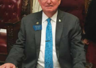 Other items of importance to Shaw included mental health, trade schools and teacher's salaries. Here he sits at his seat in Jan. 2019. PHOTO COURTESY OF RAY SHAW