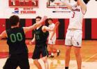 Kruer shoots against Ennis. PHOTO COURTESY TWIN BRIDGES SCHOOL