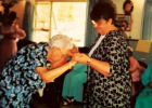Joanne's mother was a resident at Tobacco Roots for three years. Here, the mother and daughter couple dance during the facility's prom for residents. PHOTO COURTESY OF JOANNE GALIGER