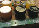 The Julius Lehrkind Brewery in Livingston opened pre- prohibition. The flight pictured here was taken at Neptune's Brewery, a part of the craft beer boom. PHOTO BY KEELY LARSON