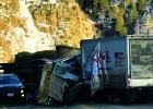 A delivery truck and an oversized hay hauler collided, resulting in a fatality, Friday, February 22. (C. Leonard)