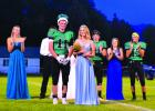 Ennis High School's 2018 homecoming king and queen Clay Coffman and Logan Crowley at the homecoming football game on Friday night, September 7. Other nominees for king and queen were Jourdain Klein, Dillon Williams, Whitney McKitrick, Rusty Lucas, Joree Hokanson, and Kyle Lohrenz. (R. Colyer photos)